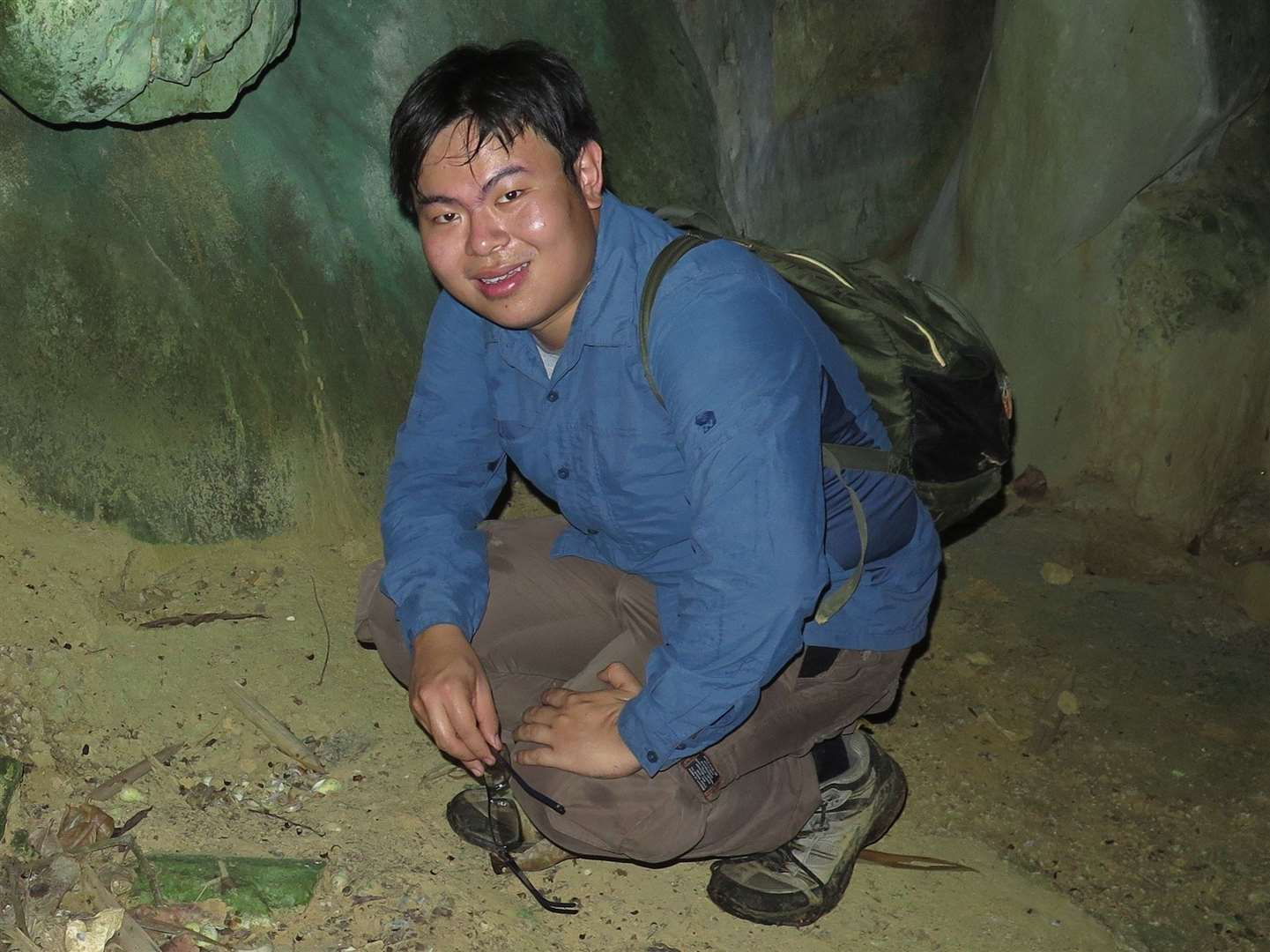 Junn Kitt Foon, Tony Whitten Conservation Prize winner, in a limestone-dominated environment where his studies are at their most productive