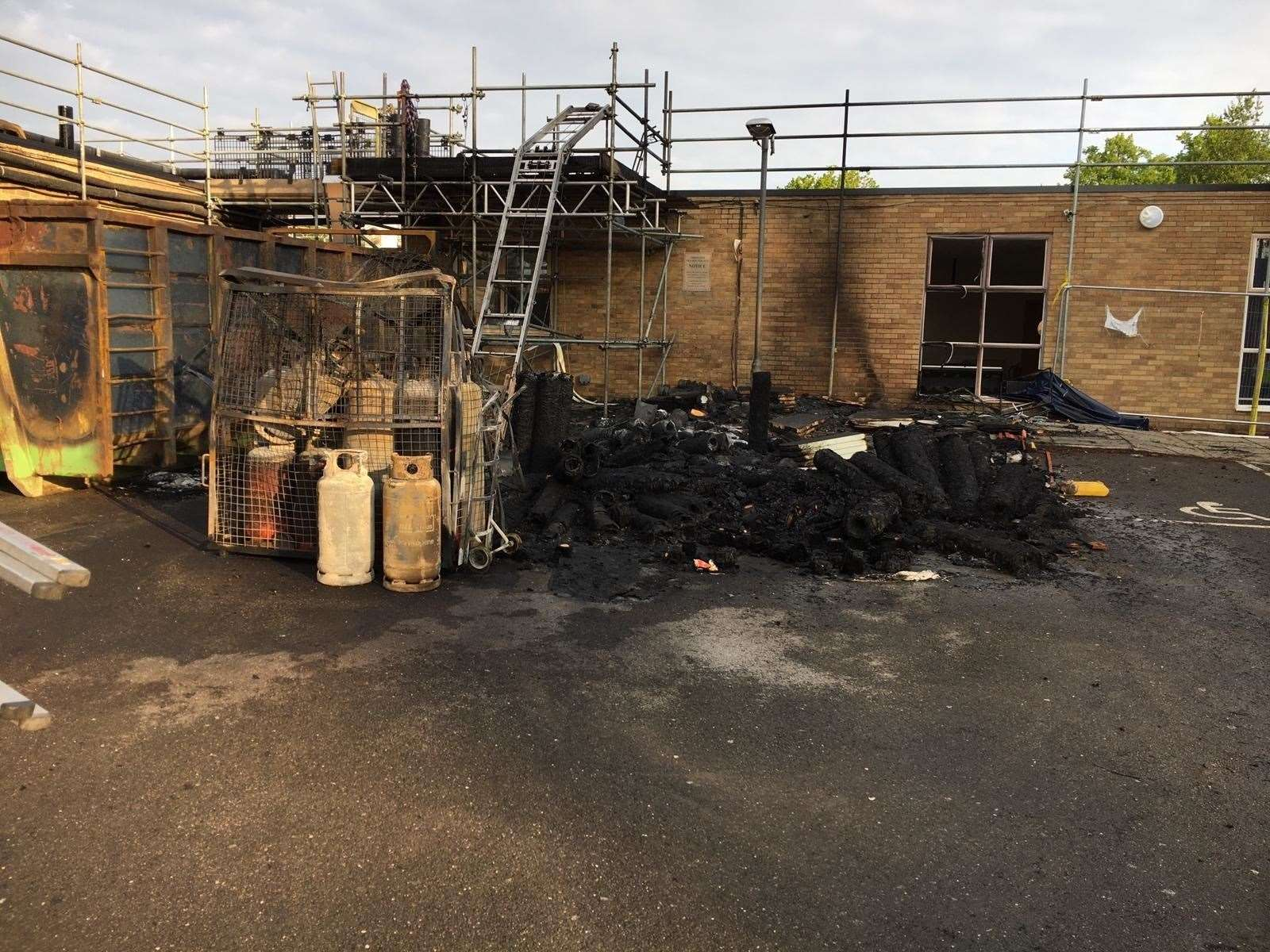 The aftermath of the fire at Impington Village College. Picture: Cambridgeshire Constabulary (34297468)