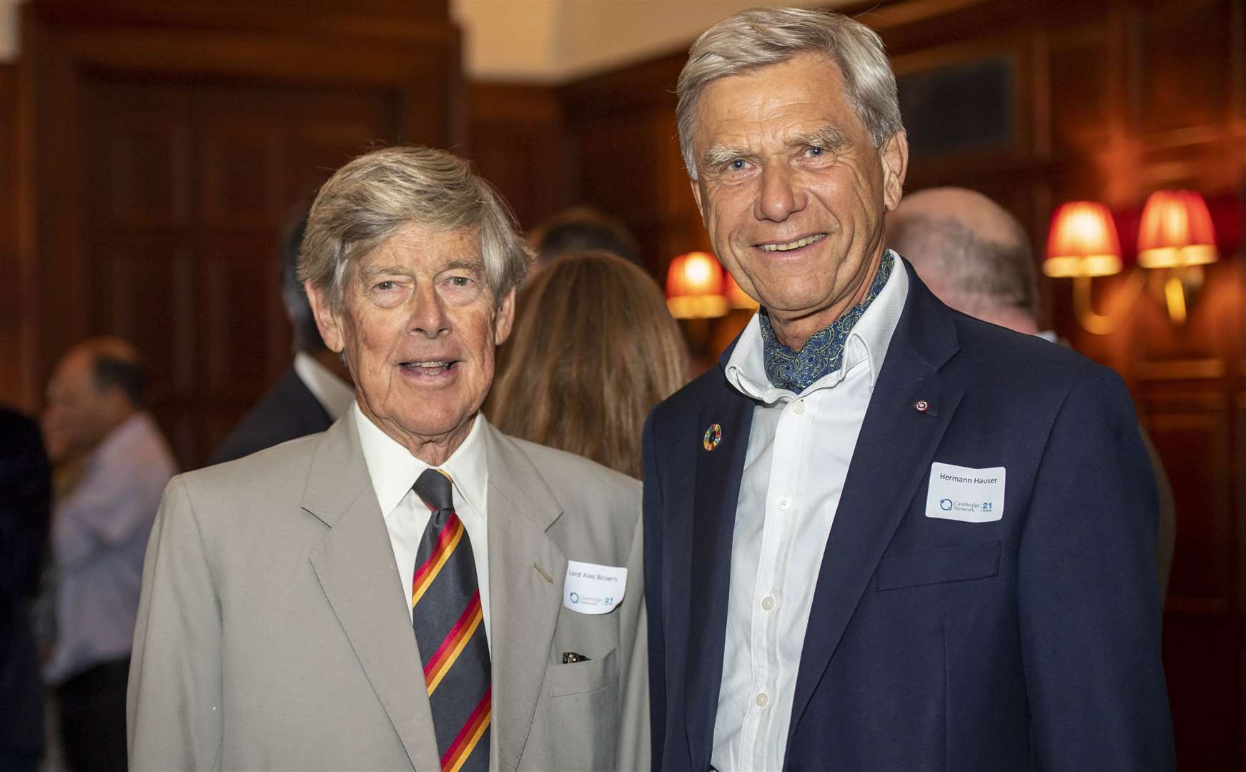 Lord Alec Broers and Hermann Hauser at Cambridge Network's 21st anniversary at the University Arms earlier this year. Picture: Keith Heppell