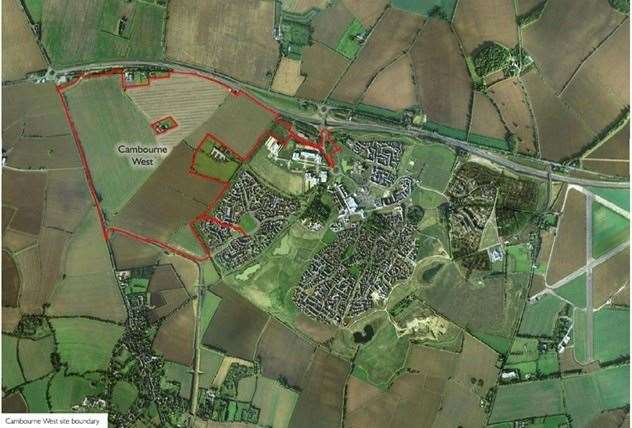 The land to be developed at Cambourne West. Image: Supplied by Bovis Homes (24836216)