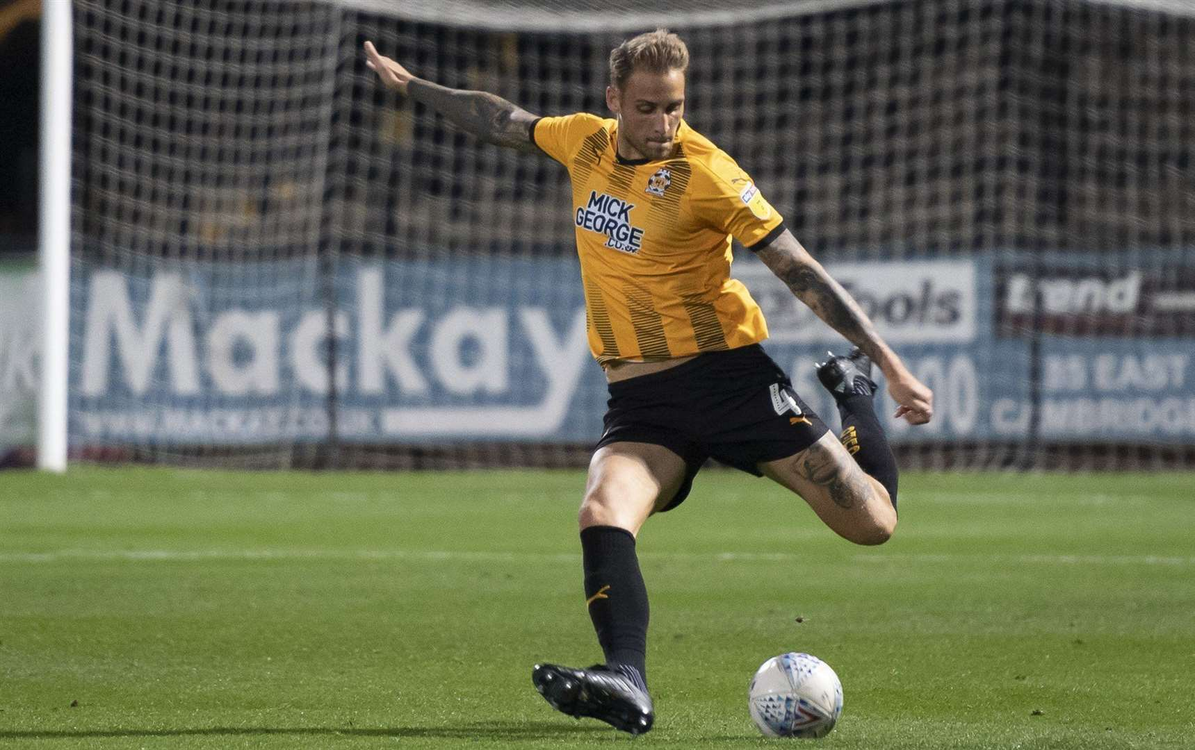 George Taft had a header cleared off the line for Cambridge United against Swindon Town.