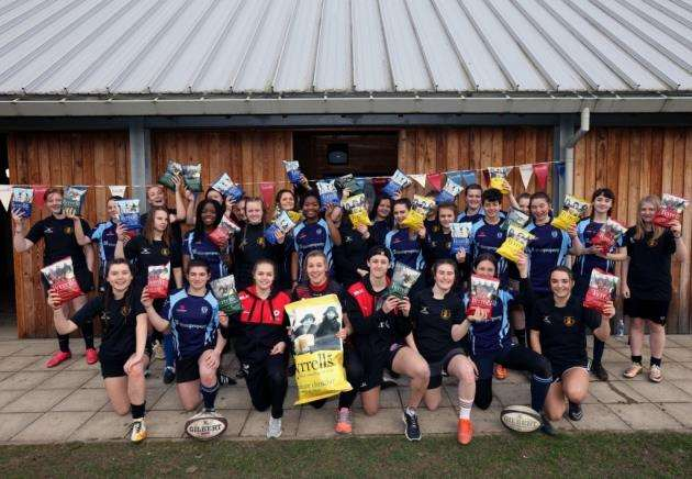 Tyrrells X RFU / Saracens host a training session with Hills Road Sixth Form College womens team players.