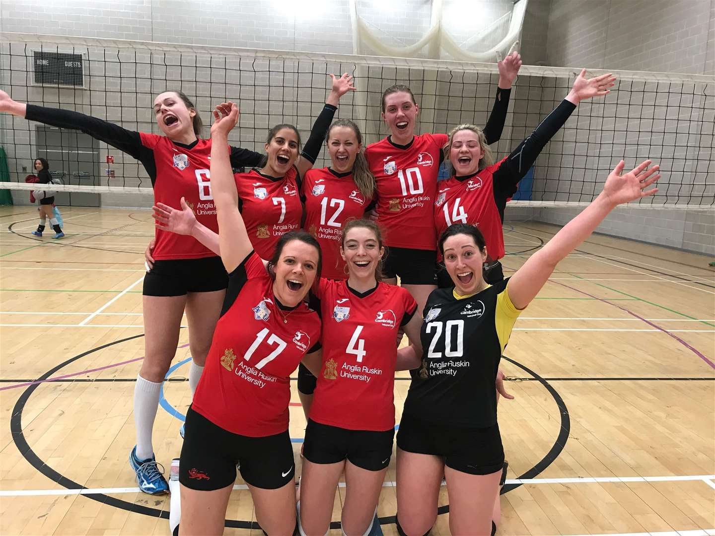 Cambridge Vc Anglia Ruskin University Make It 11 Straight Wins In The National Volleyball League Women S Division One