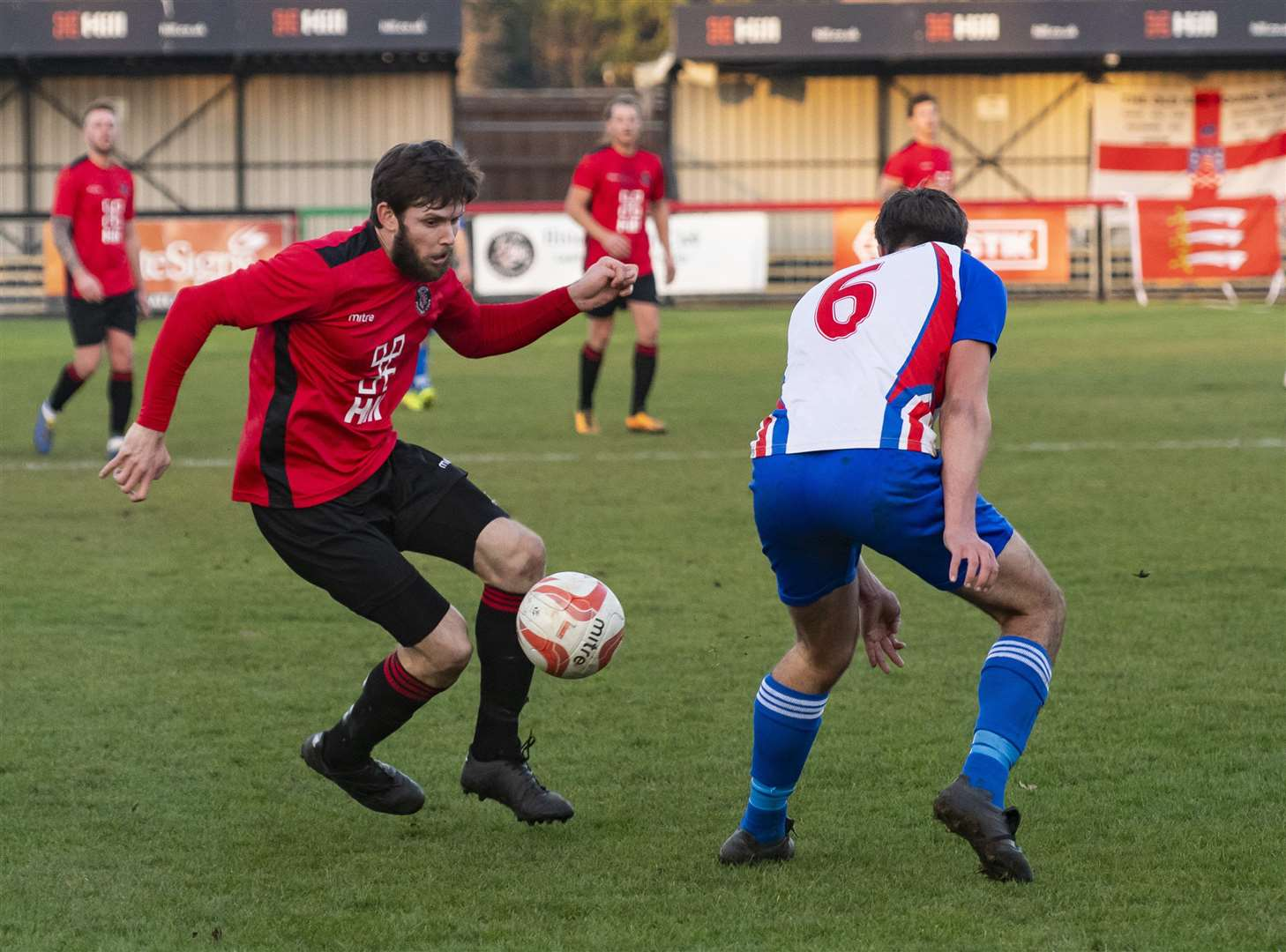 Dan Brown in action for Histon. Picture: Keith Heppell