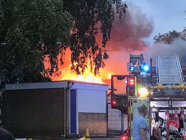 The fire at Duxford Community Primary School. Picture: Gillian Heath (39667379)