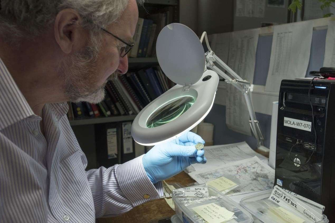 Dr Julian Bowsher examines the rare coin