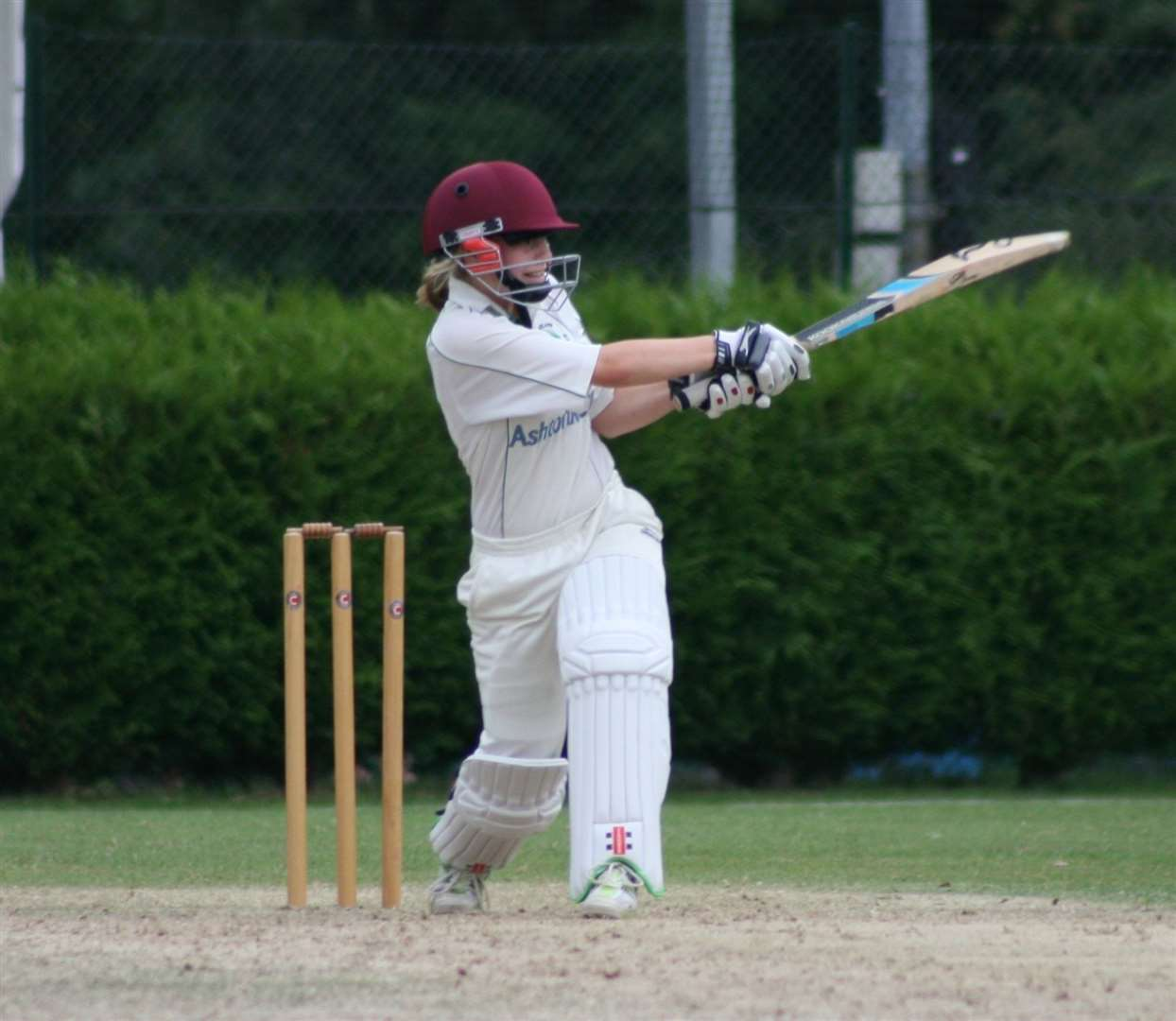 Thriplow Cricket Club opening bat Issy Routledge. Picture: Duncan Walker (34684000)