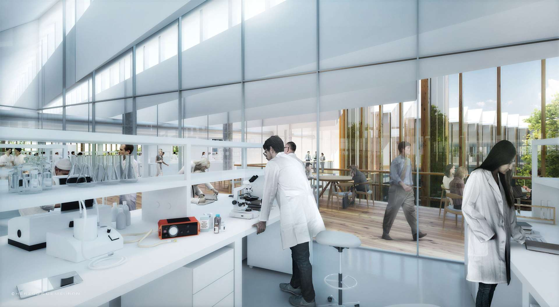 Concept drawing of second floor lab at AstraZeneca in Cambridge. (26269494)