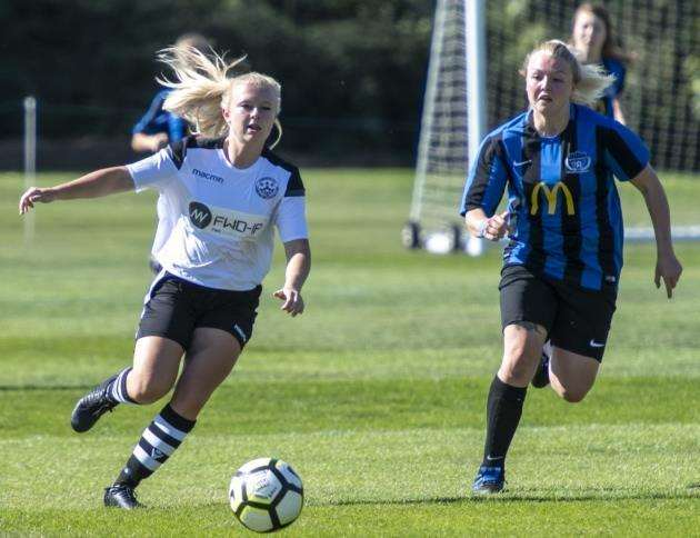 Cambridge City Ladies v Bedford Ladies at Trinity College Old Field Sports Ground, Charlotte Gillies. Picture: Keith Heppell