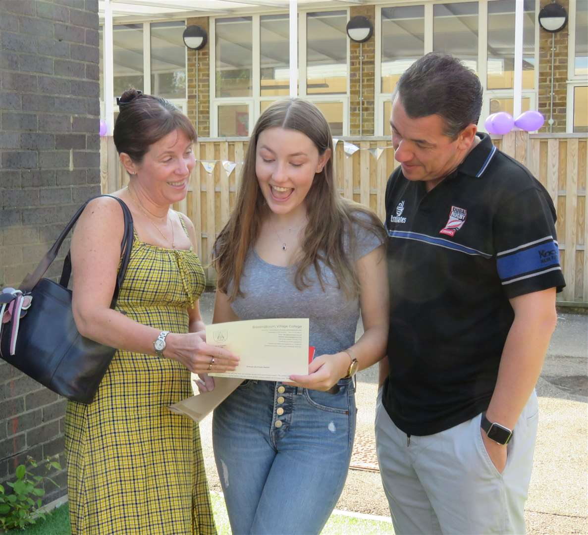 Rachel Mingay (centre) one of Bassingbourn's top achievers (15606449)