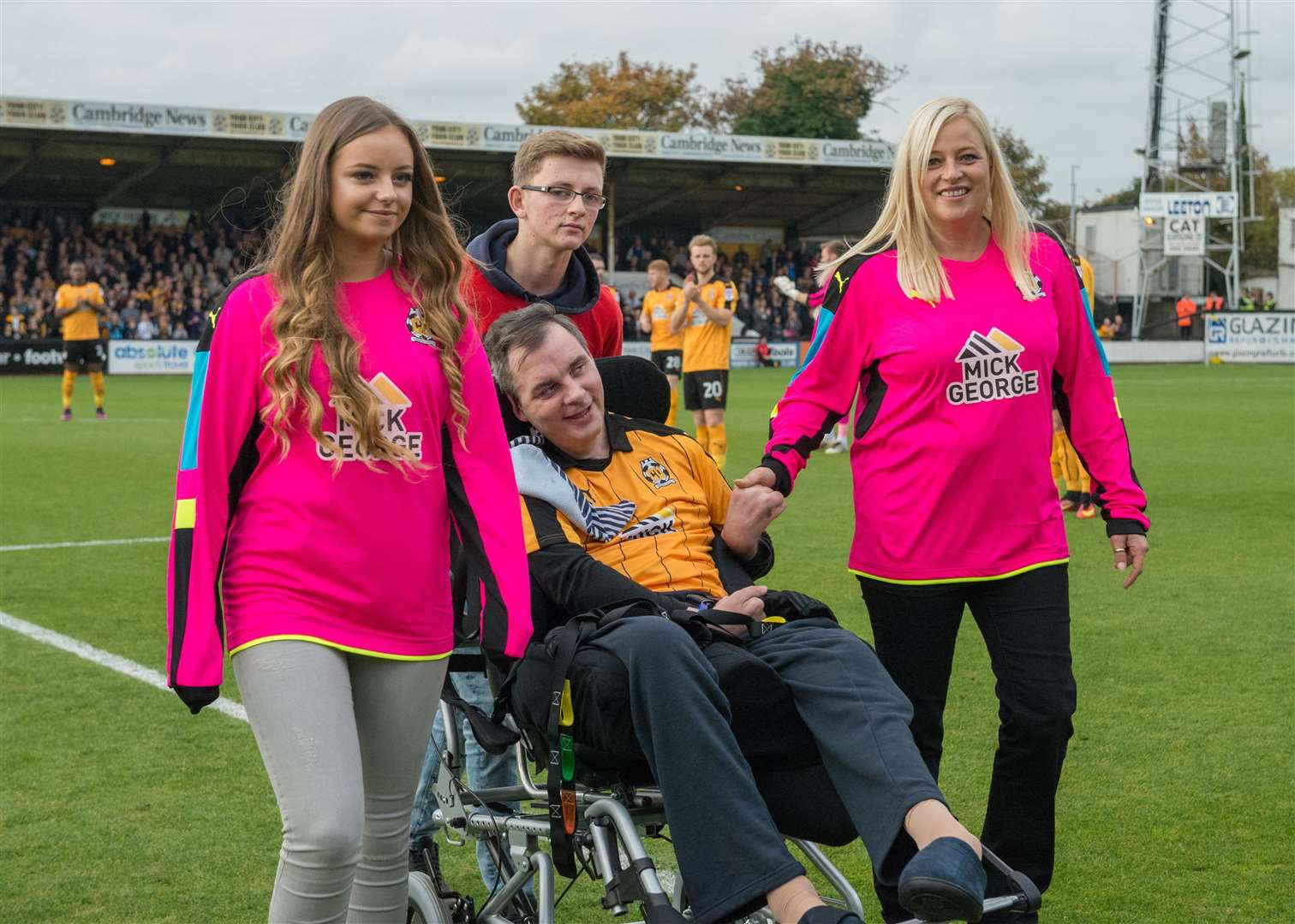 Simon Dobbin visits the Abbey Stadium with his family. Picture: Simon Lankester