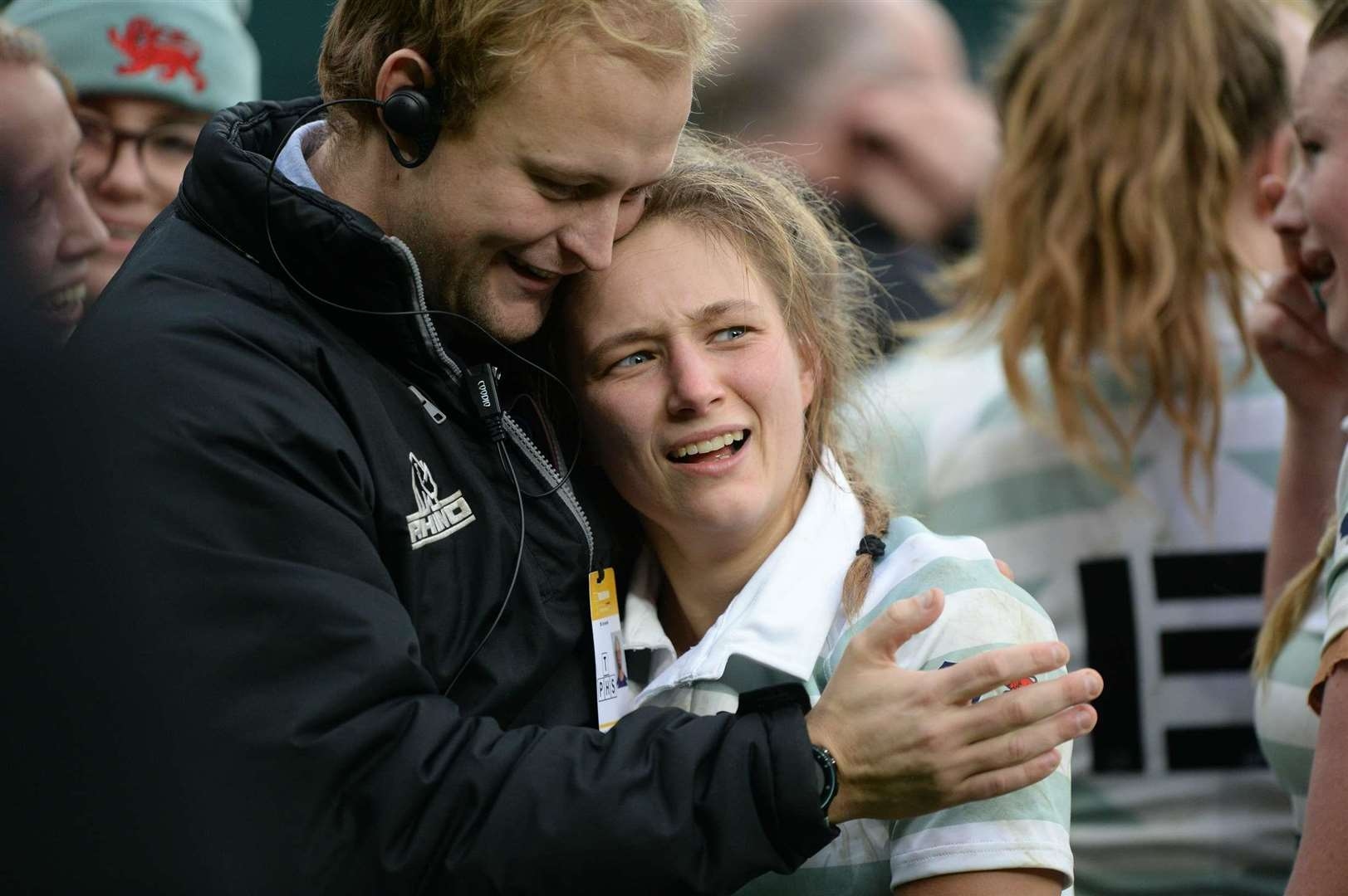 Light Blues captain Kate Marks with coach Jack Baird