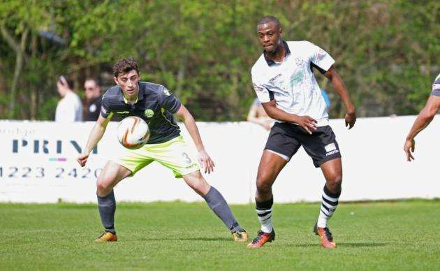 Ebby Nelson-Addy went close for Cambridge City against Hartley Wintney. Picture: Rich Marsham