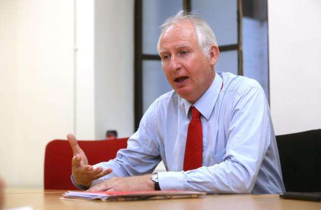 MP for Cambridge, Daniel Zeichner in conversation with Mike Scialom. Picture - Richard Marsham