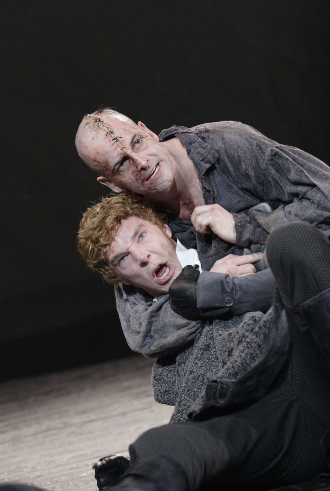 Benedict Cumberbatch and Jonny Lee Miller in the National Threatre production of Frankenstein (33923782)