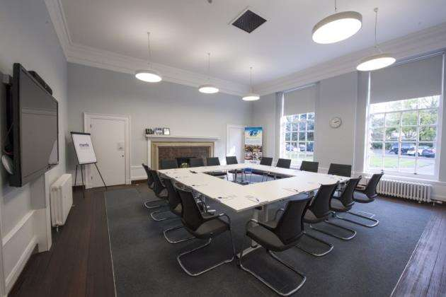 A meeting room at The Officers Mess, Mantle Business Centre, Duxford . Picture: Keith Heppell