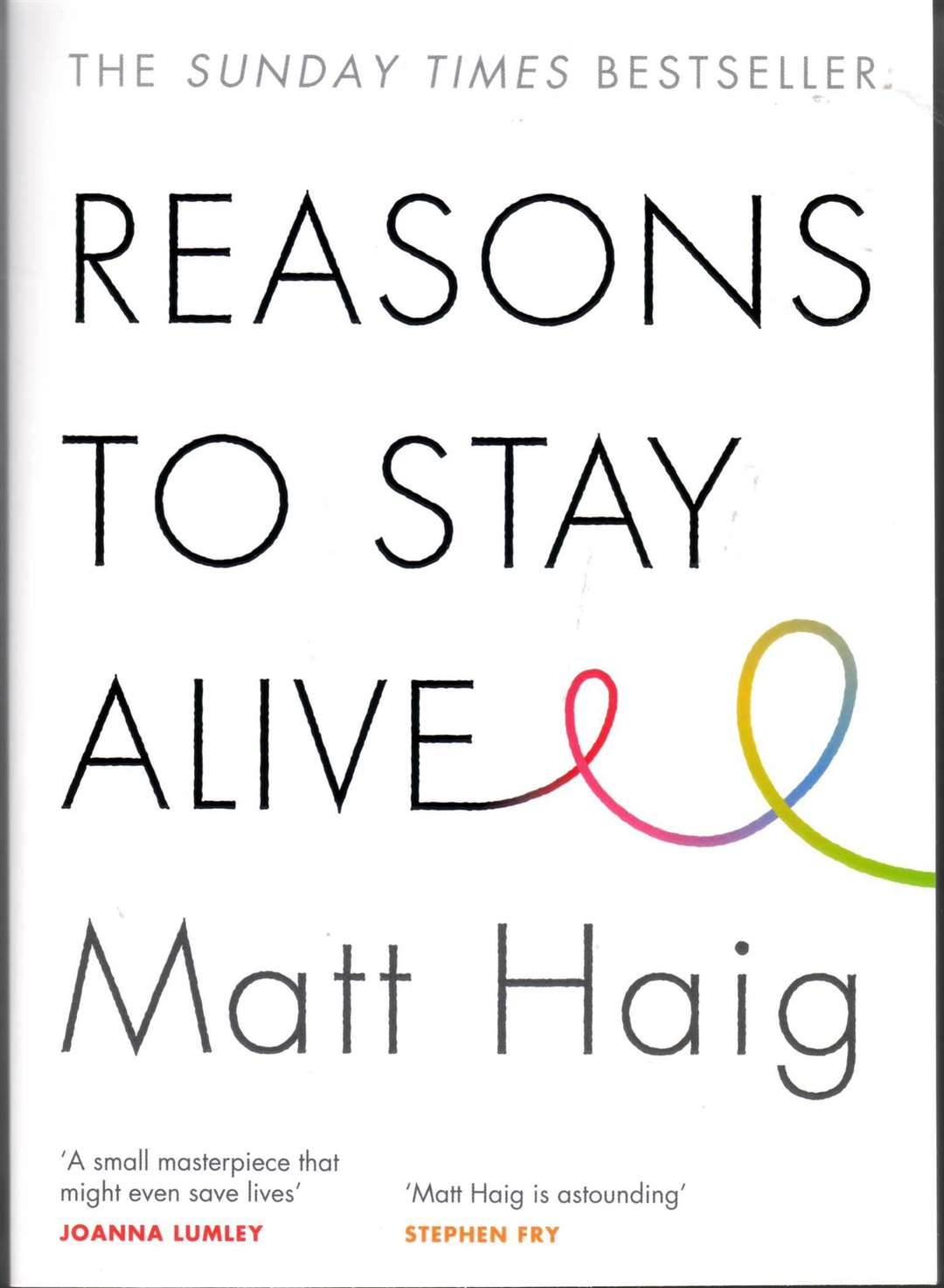 Reasons to Stay Alive by Matt Haig.
