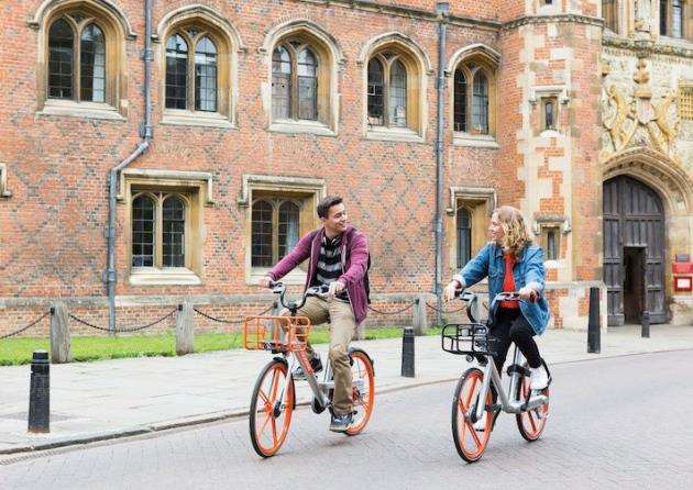 Mobike launches in Cambridge, June 21, 2018. Picutre: Mobike
