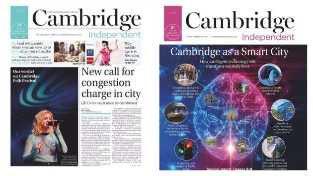 Cambridge Independent front page montage