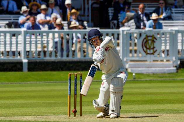 Ali Dewhurst batting at Lords. Picture: Mike Harris