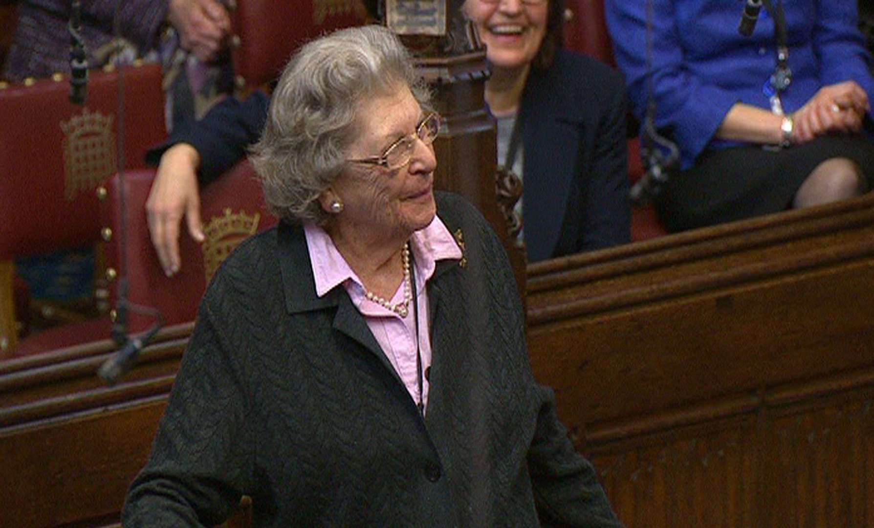 Baroness Trumpington, a Bletchley Park code-breaker famed for flicking two fingers up at a fellow Tory peer, has died at the age of 96. Photo: PA Wire
