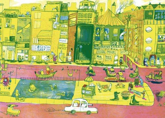 The Big City by Joseph Namara Hollis, Anglia Ruskin University MA Childrens Book Illustration student