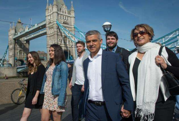 Labour mayor Sadiq Khan, seen here with his wife Saadiya (right), commissioned the Preparing for Brexit study. Picture: Stefan Rousseau/PA Wire