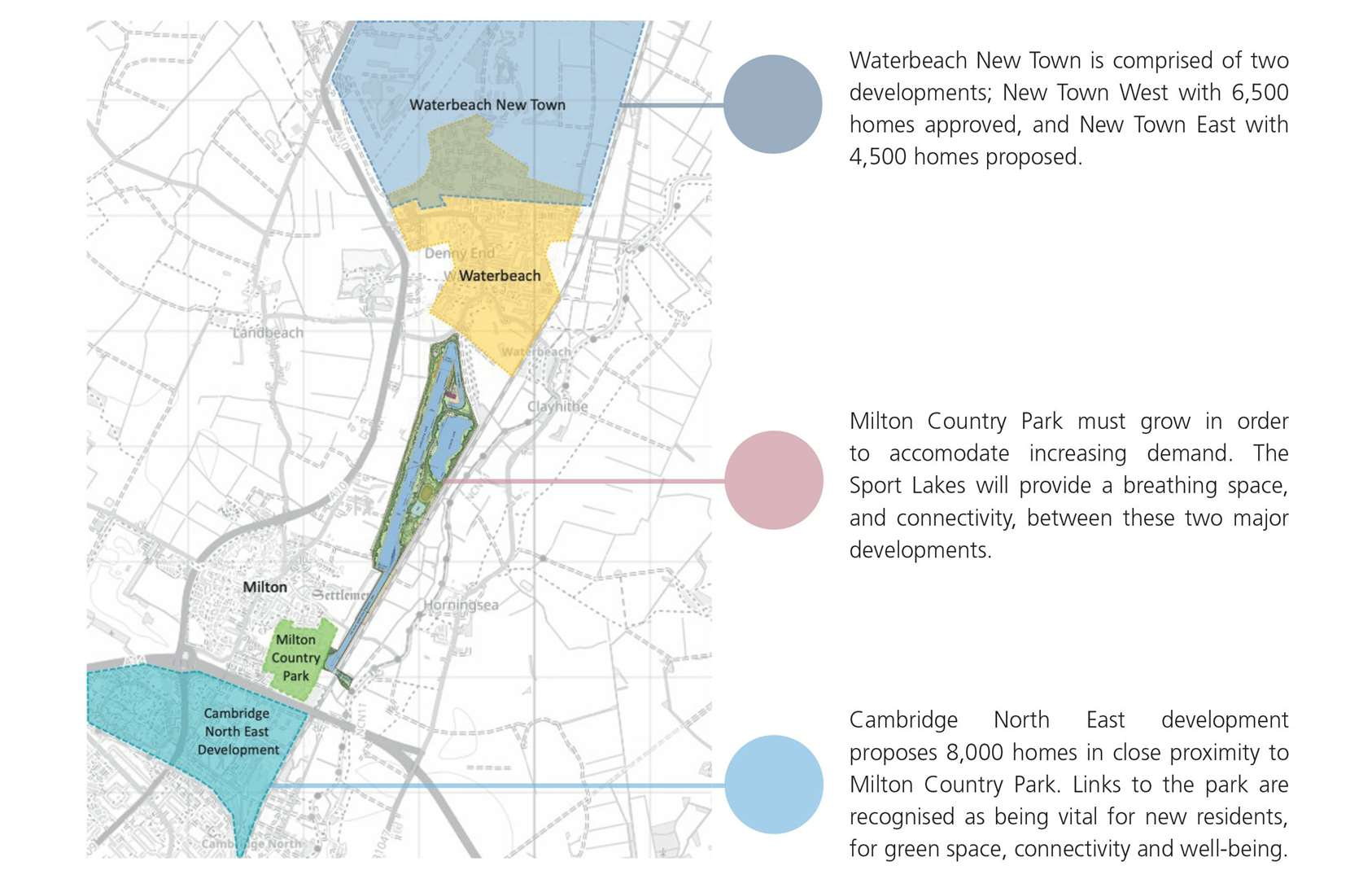Waterbeach new town and the Cambridge Country Park and Sports Lake proposal (43323935)