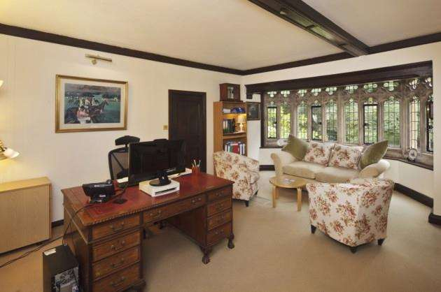 One of the upstairs offices at Lanwades Hall