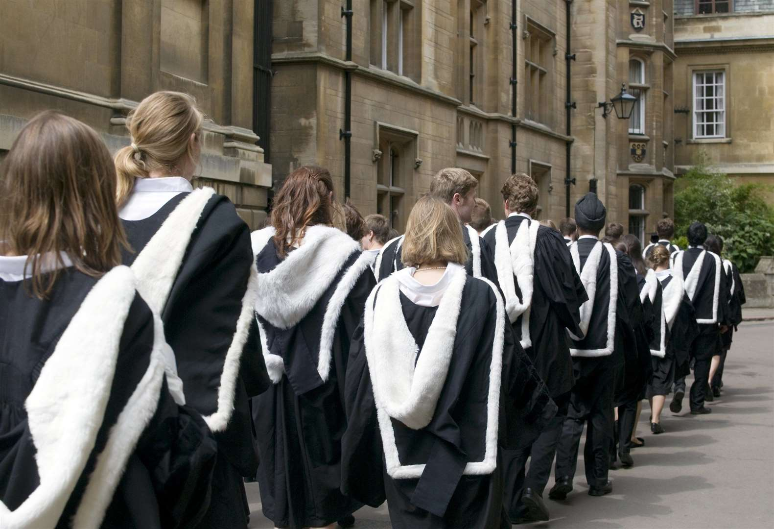 University of Cambridge students from Clare College on graduation day
