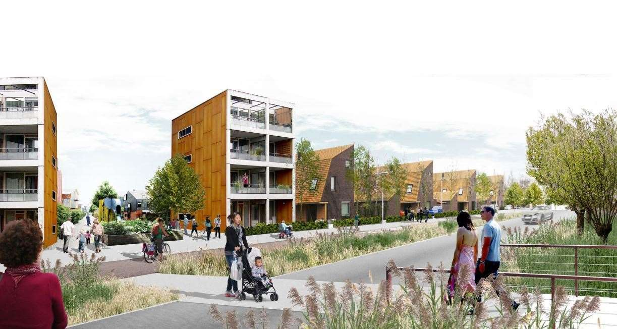 Waterbeach New Town - an artist's impression. Picture: LDA Design/RLW Estates