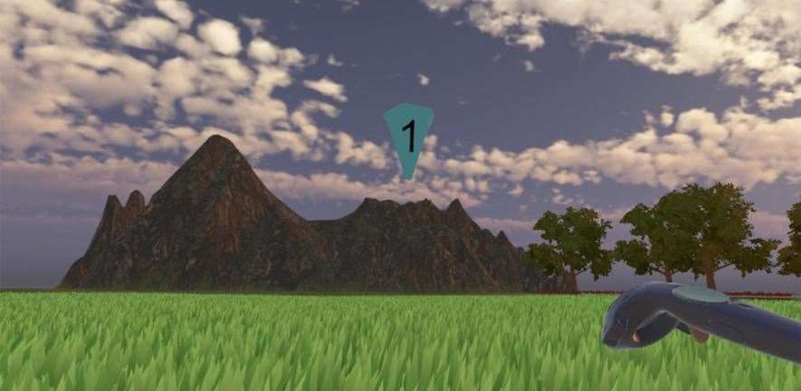 Example environment from the virtual reality display. Picture: University of Cambridge (11090546)