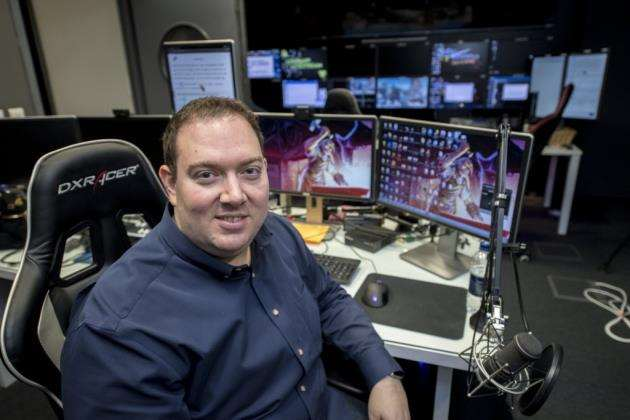 Jagexs CEO Phil Mansell in the video steaming studio. Picture: Keith Heppell