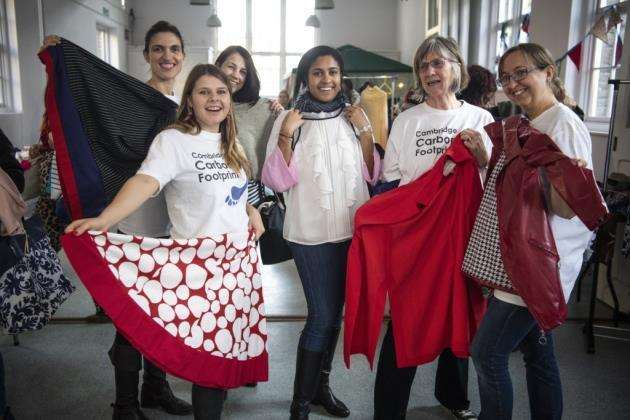 Volunteers at Cambridges first Sustainable Fashion Festival. Picture: Keith Heppell