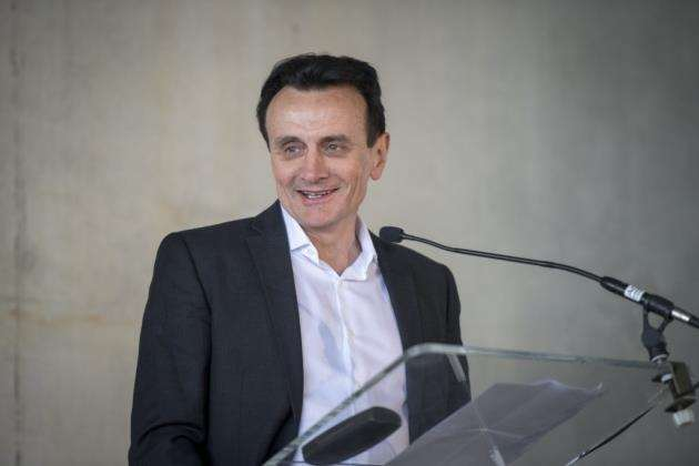 Pascal Soriot, chief executive officer of AstraZeneca before the topping-out ceremony, Picture: Keith Heppell