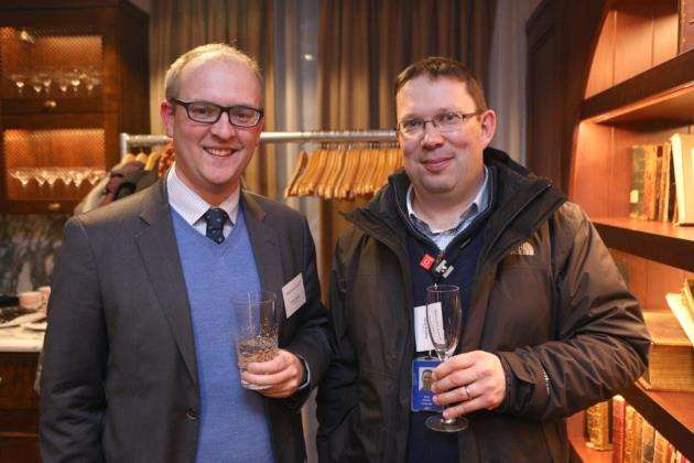 From left, Oliver Phillips and Daryl Bradley at the event to mark Appleyard Lees year in Cambridge. Picture: Richard Marsham