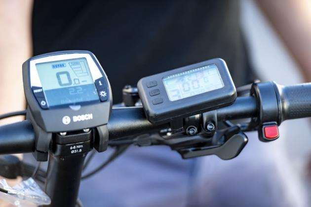 Two motors, two displays for Shadys modded ebike. Picture: Keith Heppell