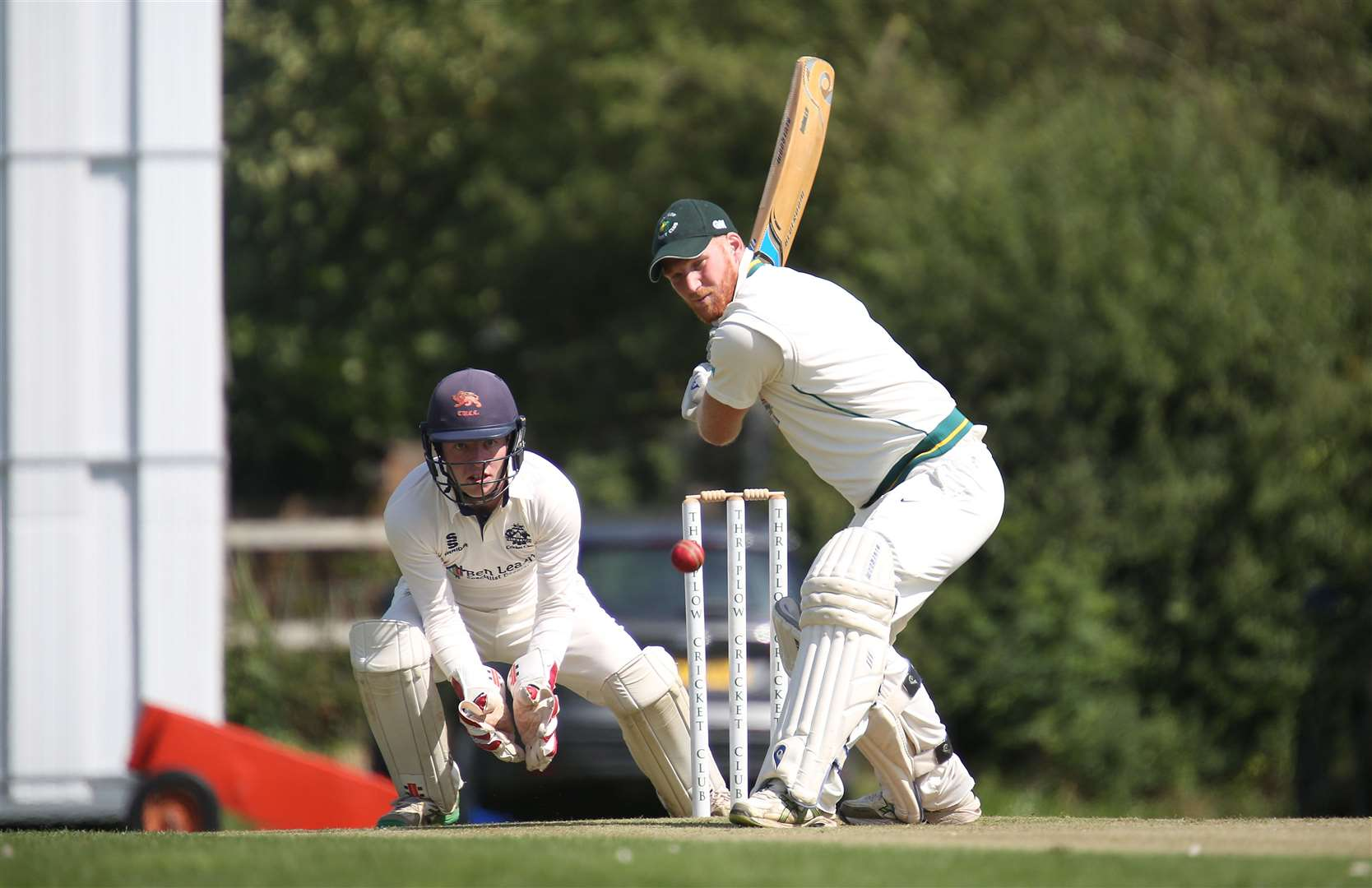 Thriplow v Histon - Chris Viner bats for Thriplow..Picture - Richard Marsham. (15369036)