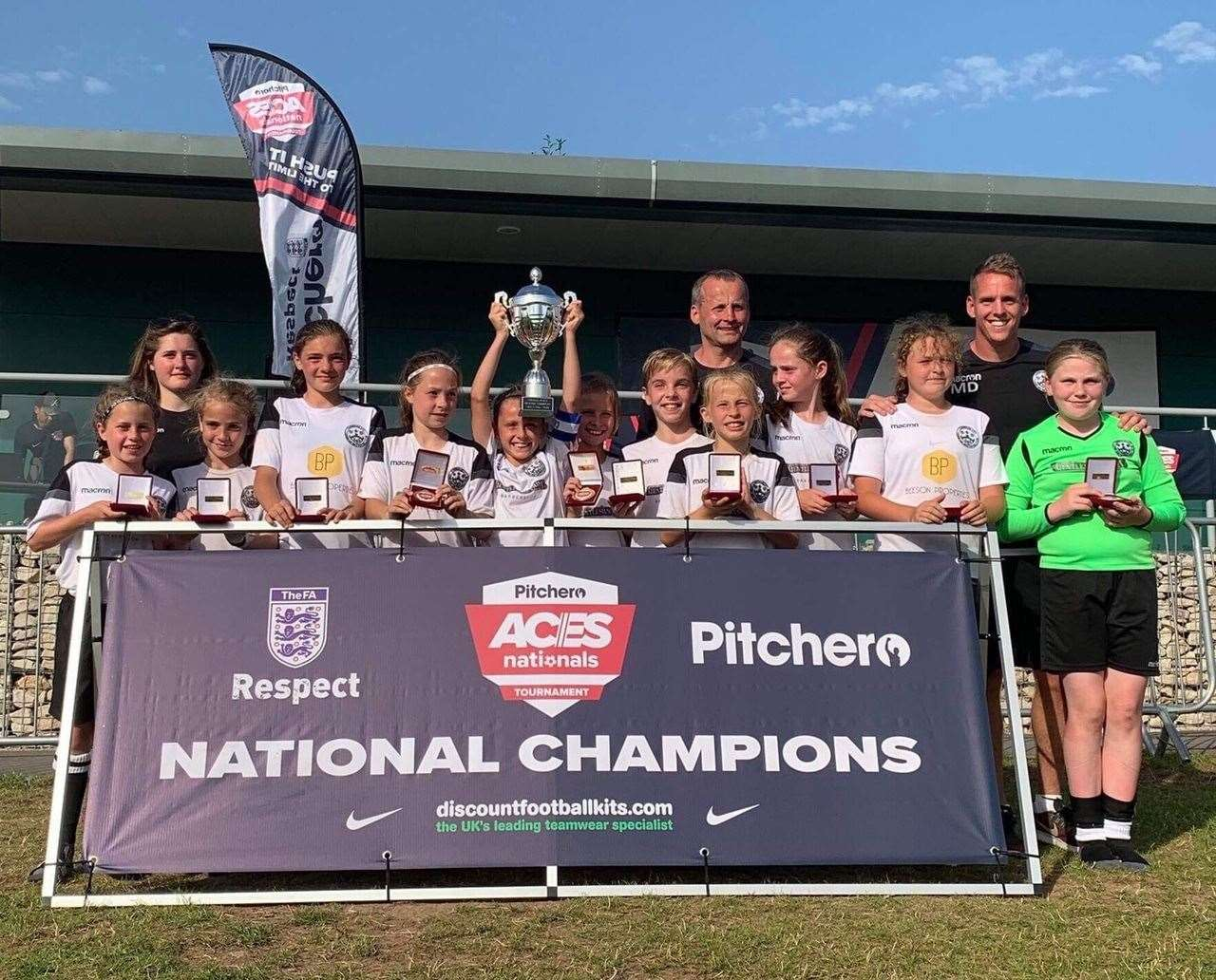 Cambridge City under-12s girls' team, who won the Pitchero Aces National Tournament in Nottingham. Picture: Chris Mosley (13269499)