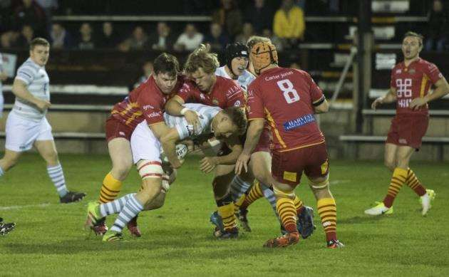 Action from Cambridge University v Cambridge. Picture: Keith Heppell