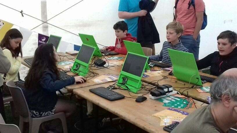 Raspberry Pi tent at the Big Weekend
