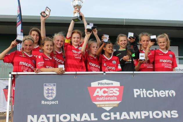 Cambridge City under-13 girls win the Aces tournament in Nottingham