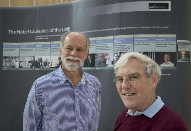 Richard Henderson, right, who shared the 2017 Nobel Prize in Chemistry with Sir Hugh Pelham. Picture: Keith Heppell
