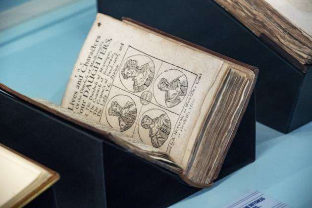 A book on display at Cambridge University Library. Picture: Keith Heppell