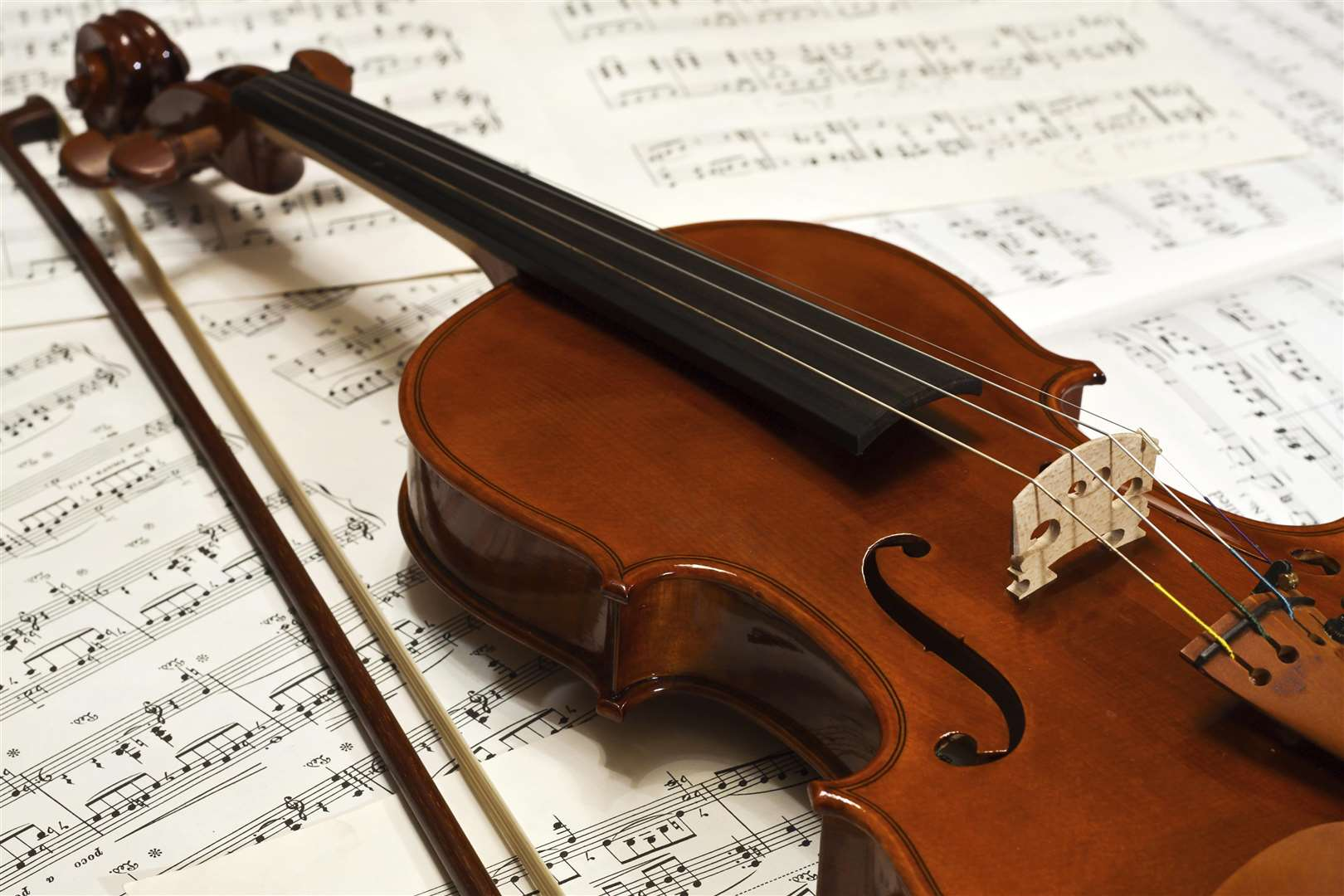 MUST CREDIT Picture: istock.comKMG GROUP USE ONLYConditions of Use: KMGSlug: music MM 260115Caption: A violin with sheet music. Copyright: istock images.Location: MedwayCategory: MusicByline: UnknownContact Name: istockContact Email: Contact Phone: download from istockUploaded By: Clare FREEMANCopyright: UnknownOriginal Caption: FM3618716 (5880351)