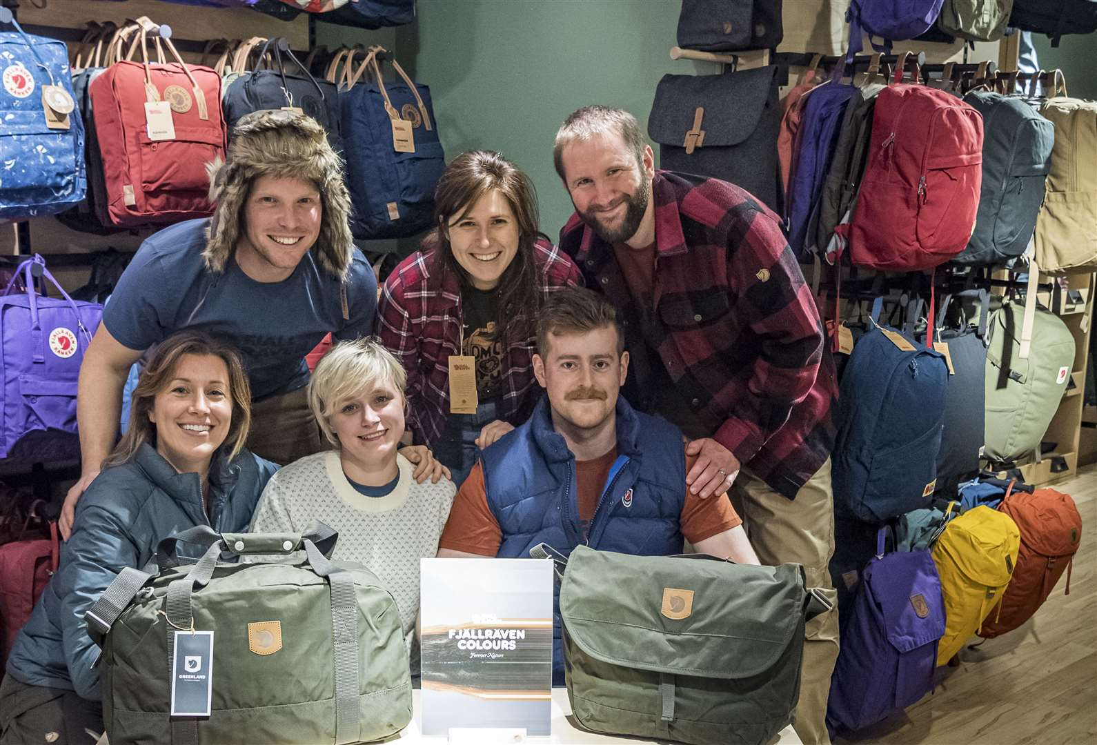 Staff from Open Air at the launch of new Fjällräven capsule store in Green Street, Cambridge. Picture: Keith Heppell. (20886083)