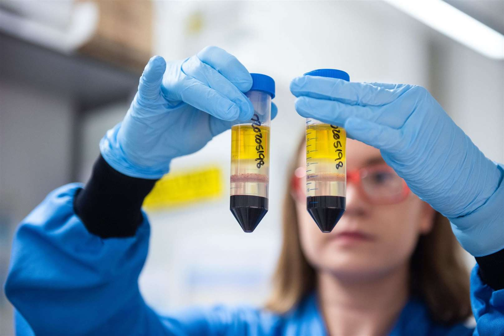 A researcher working on the Oxford/AstraZeneca vaccine. Picture: John Cairns/University of Oxford/PA
