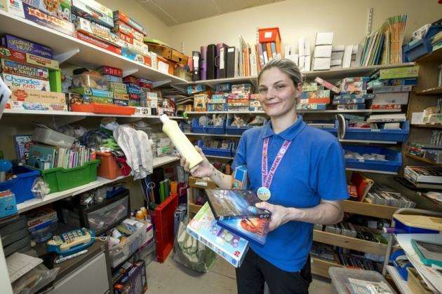 Addenbrookes Hospital, Hills Rd, Cambridge, play specialists, Sheena Belham in the Toy cupboard . Picture: Keith Heppell
