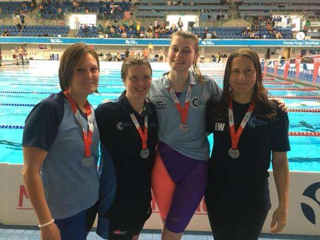 City of Cambridge Swimming Club ladies 160+ relay squad