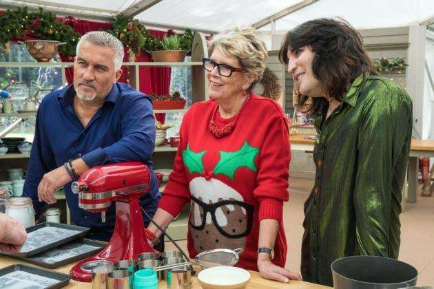 The Great Christmas Bake Off: (Paul, Prue and Noel)